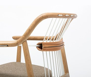 Wood chair with leather diy